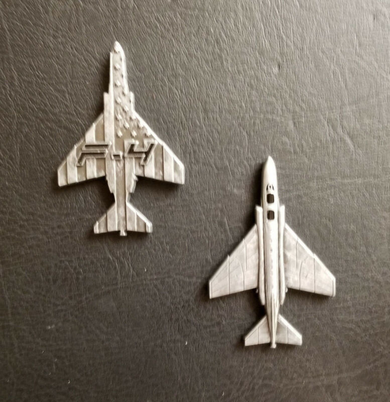 F-4 Phantom II Fighter Military Aircraft Shaped Challenge Coin