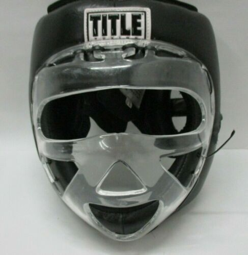 Title Boxing Face shield No-Contact Training Headgear - Black -  Large - defects