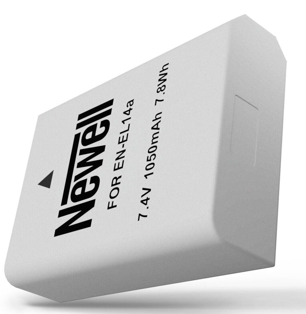 Akku Batterie Newell EN-EL14a f. Nikon D3100 D3200 D3300 D5100 D5200 D5300 D5500