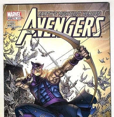 THE AVENGERS #489 with Hawkeye & The HULK from Jan. 2004 in F/VF condition (Hawkeye From Avengers)