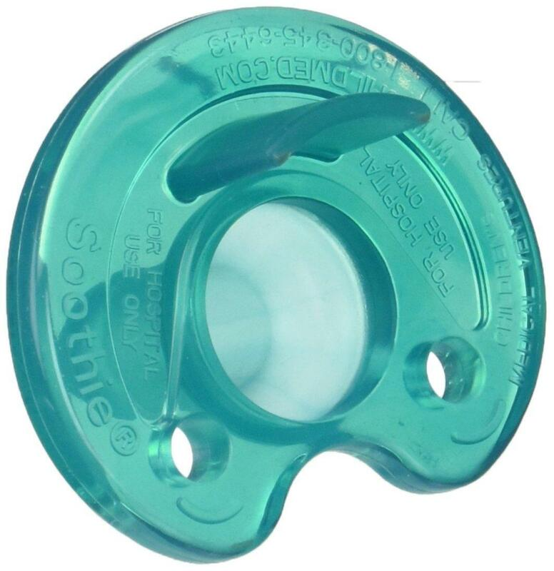 Philips Notched Newborn NICU Soothie Pacifier, Green, 0-3 Months, Hospital Binky