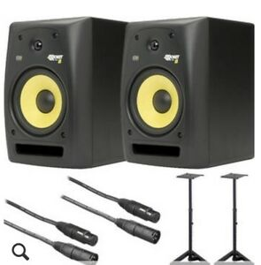 KRK Rokit 8 speakers with stands