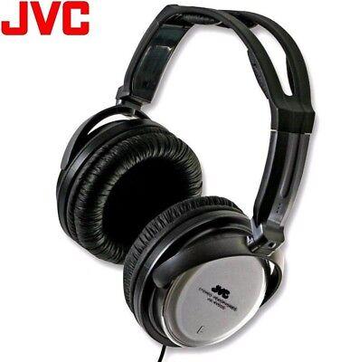 JVC HA-RX500 SILVER FULL-SIZE EXTRA BASS STEREO COMFORTABLE HEADPHONE /BRAND (Jvc Silver Headphone)