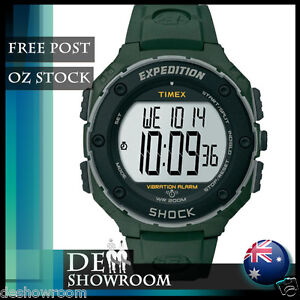 Timex Men's Expedition Vibrating Alarm Digital Watch T49951 - Free Post in AU