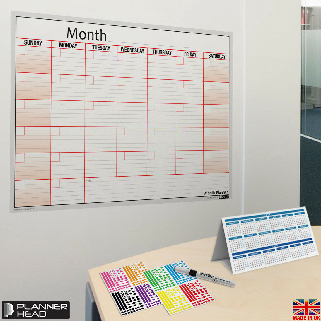 laminated month planner wall chart monthly planner