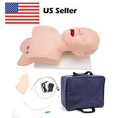 Intubation Manikin Study Teaching Model Airway Management Trainer Pvc With-teeth