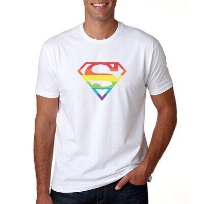 rfrau - T-Shirt Herren / Damen - Rainbow Pride Superheld (Superman T-shirt Damen)