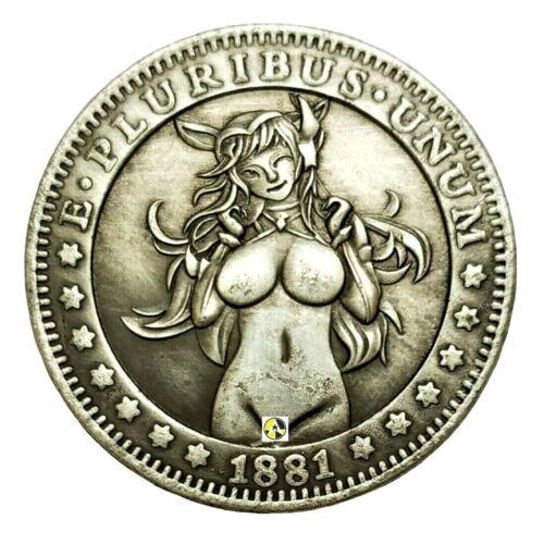 Sexy Anime Elf Girl Novelty Coin