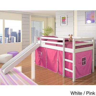 Loft Bed Slide - Girl Loft Bed with Slide