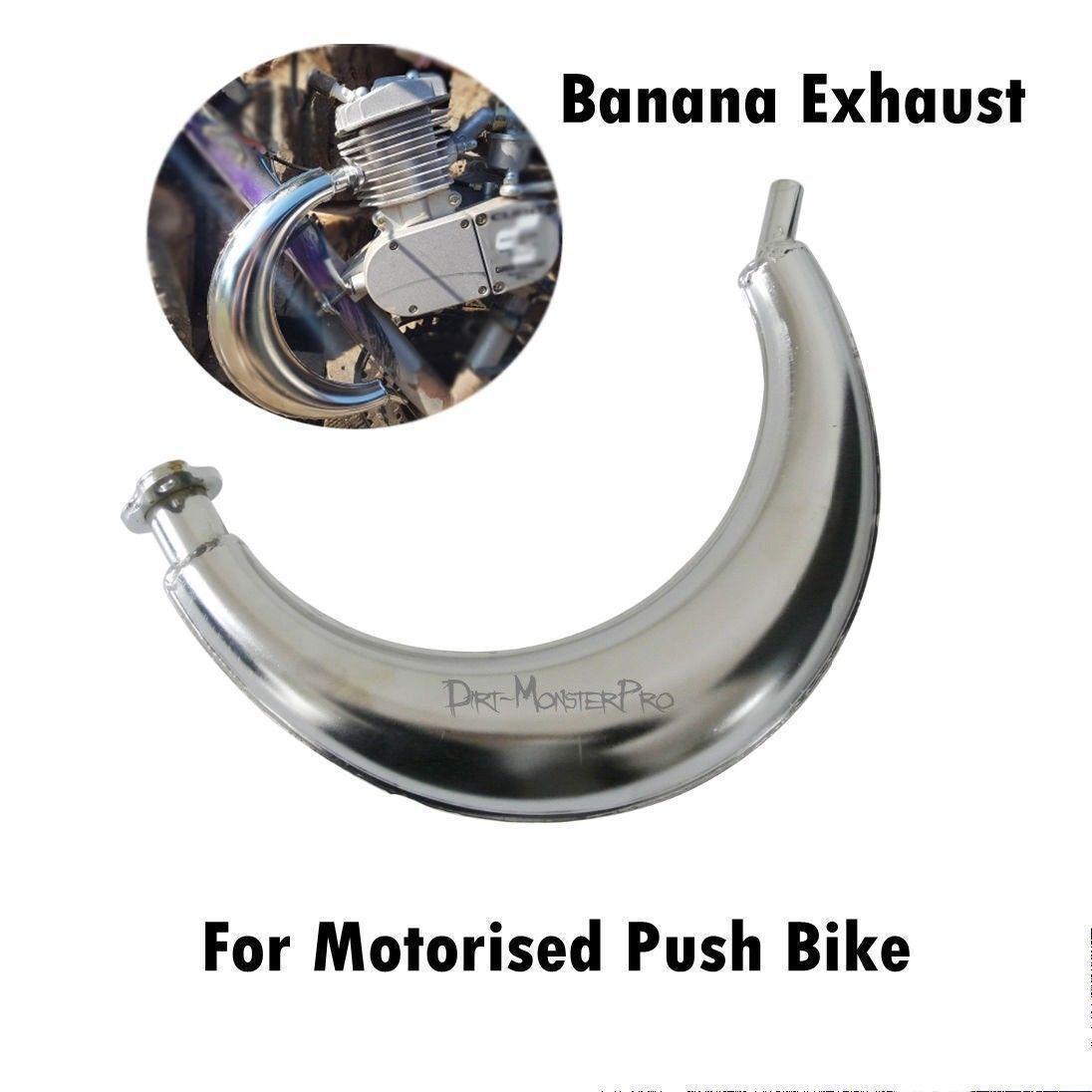 Expansion Chamber 2 Stroke Bicycle Engine Kit Replacement Motorized Bike Black