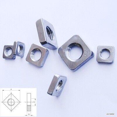 Vierkantmuttern niedrig Din 562 verzinkt M 3 NEU 50 St.