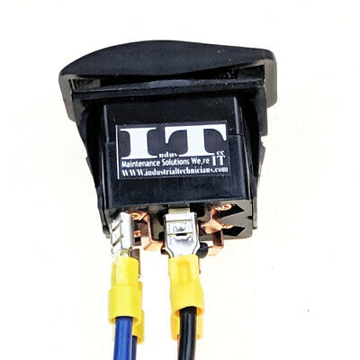 Industec Motor Polarity Reversing - Rocker Switch Control With Wires Momentary