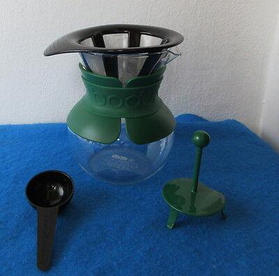 Bodum POUR OVER Kaffeebereiter Coffee Maker 0,5 L Grün Permanent Filter