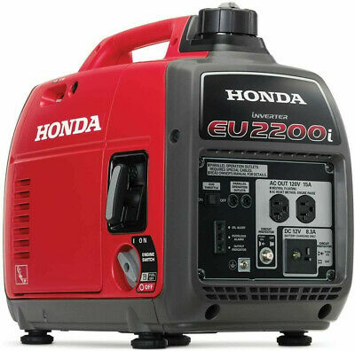 Honda 2200-w Super Quiet Portable Gas Powered Inverter Generator Home Rv Camping