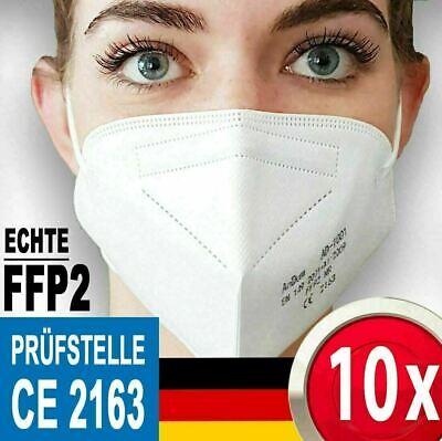10 Stück FFP2 Maske Mundschutz Masken Schutzmaske ✅CE ~ Händler aus Deutschland