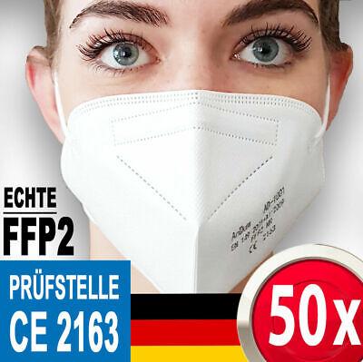 50 x FFP2 Masken Mundschutz 100 1000 Großhandel Restposten ✅ CE2163 zertifiziert
