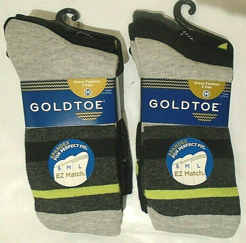 Gold Toe Boys' Cotton Dress Fashion Socks ,  SIX PAIRS MEDIU