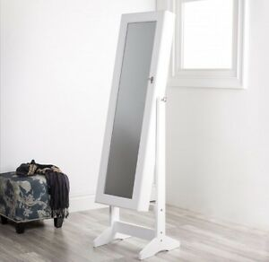 Brand New In Box Full Length Locking Mirror Jewelry Stand
