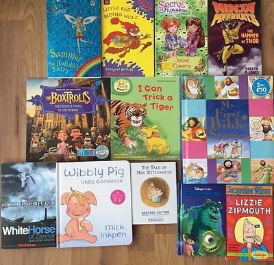 Whole Sale / Job Lot of 100 Children Books USED very good Titles. Free P & P