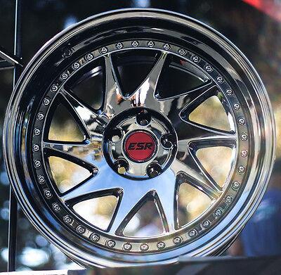 18  Esr Sr09 Wheels 18X9 5  22 5X114 3 Vacuum Black Chrome Rims Set  4