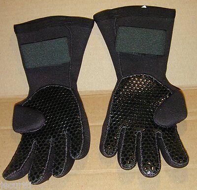 *NEW* XXS 5/6 Aqua Lung Whites 5mm Titanium Scuba Diving Gloves Textured Snorkel