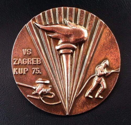Croatia badge Firefighting  medal Yugoslavia SFRJ - VS Zagreb cup 1975 !