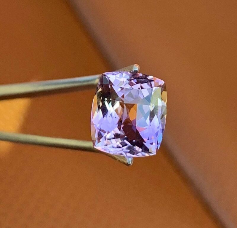 Certified Ametrine IF Clean! 4.78 CT 11x10mm Antique-Cut Natural Untreated Gem