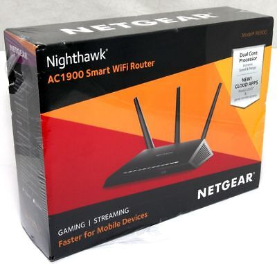 Netgear R6900 Nighthawk AC1900 Smart WiFi Router Dual Core Processor Apps