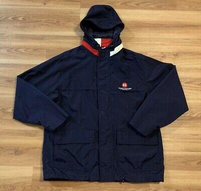 Vintage Tommy Hilfiger Jacket L Flag Logo Spell Out Sailing Parka 90's 2000's