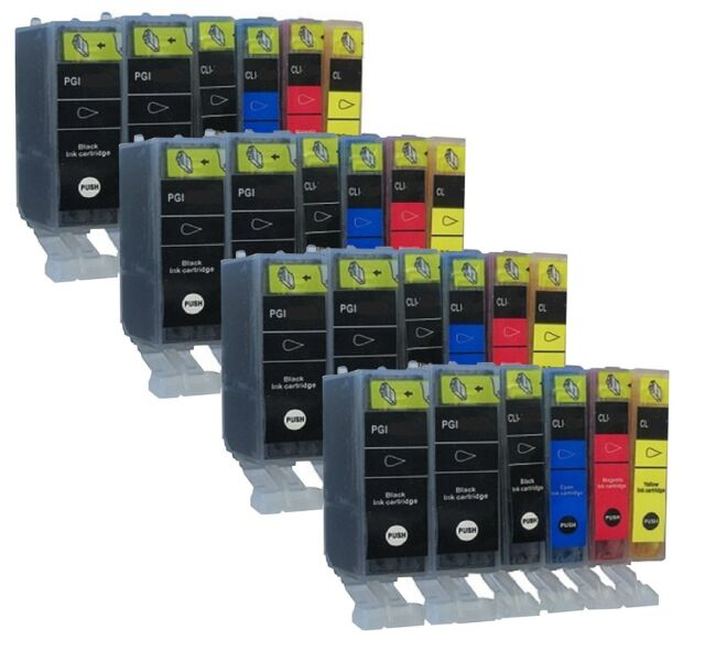 24 ink cartridges for Canon choose colour MX885 iX6520 MG8150 More Capacity