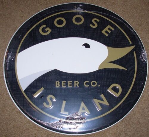 GOOSE ISLAND BREWING bourbon county chicago METAL TACKER SIGN craft beer brewery