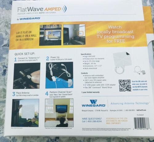 Winegard FlatWave Amplified Razor Thin HDTV Indoor Antenna,