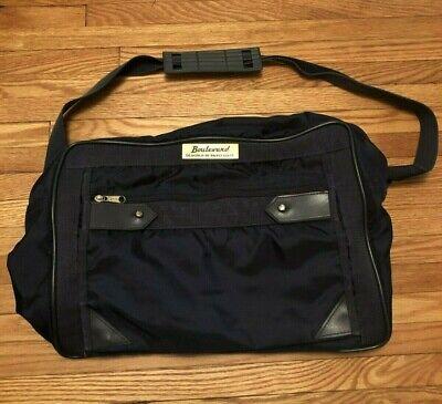 Vintage BOULEVARD DESIGNED BY PAOLO GUCCI blue shoulder duffle messenger bag