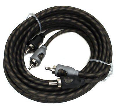 Rockford Fosgate RFI-16 16' Feet Twisted 2 Ch RCA Car Audio Signal Cable RFI16