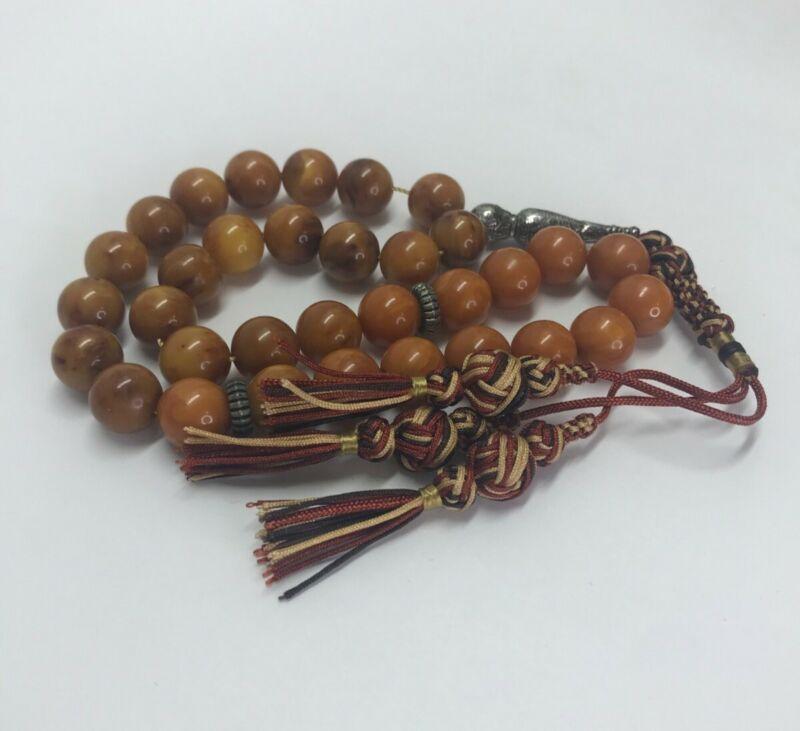 Bakelite prayer beads 51g- 12mm - 33 beads + Imam - very nice - tested