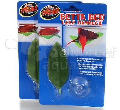 Betta Fighting Fish Bowl/Tank Bed/Hammock  Zoo Med (2) Pack