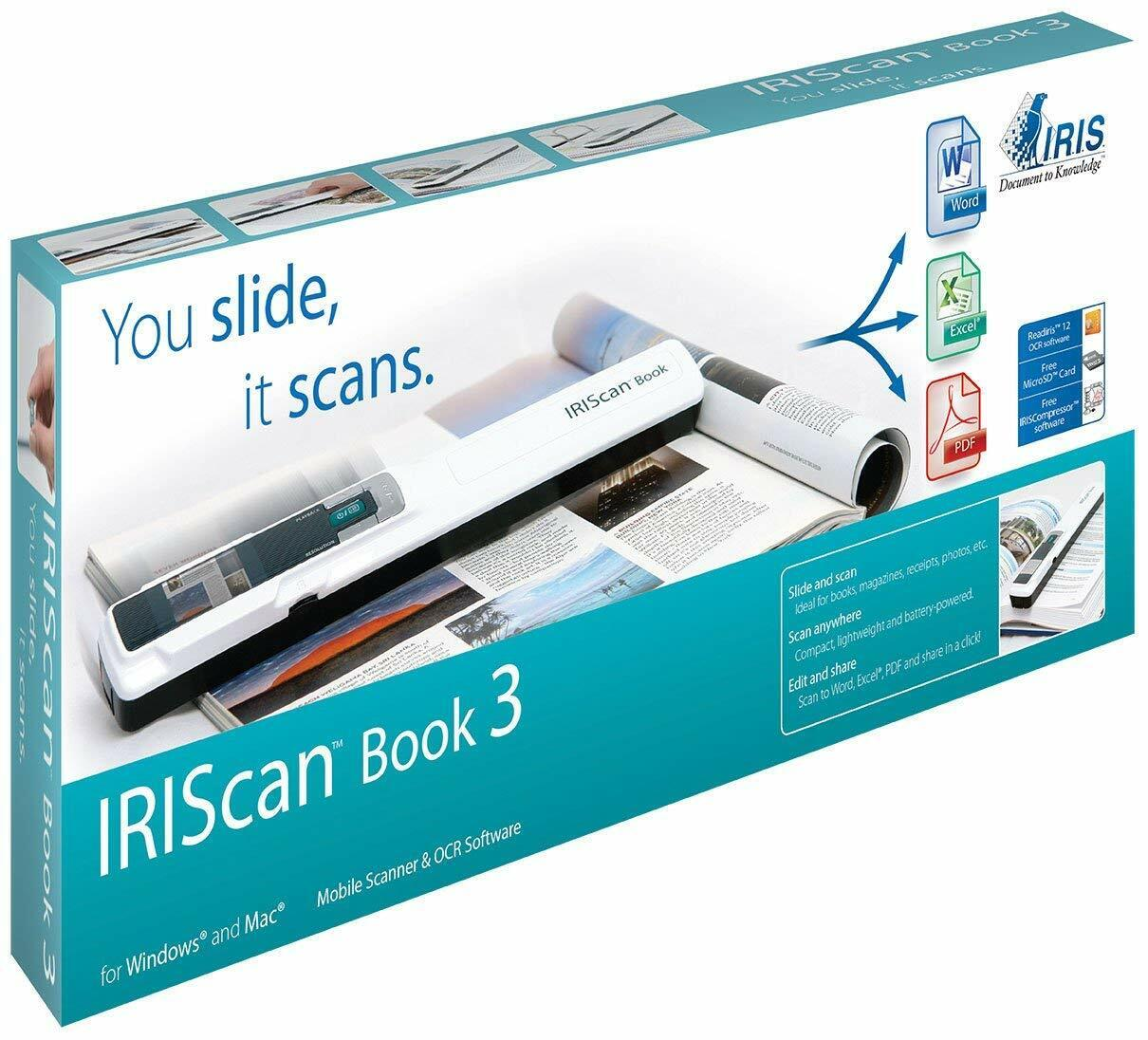 IRIScan Book 3 Wireless Portable 900 dpi Color Scanner