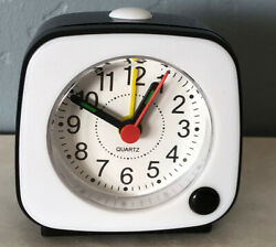Small Mini Alarm Clock Portable Desk Quartz Clock ~Travel Size With Light~