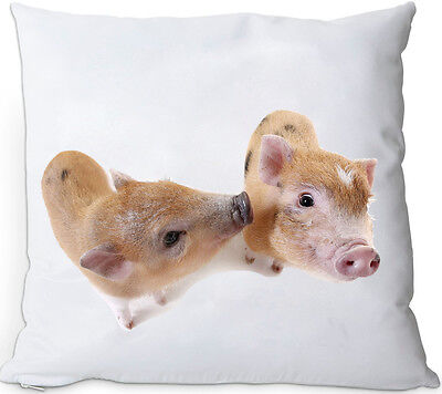 SCHWEIN - Kissen KUSCHELKISSEN seidig weich 35x35 Dekokissen + Füllung - PIG 14