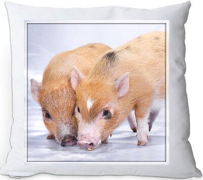 SCHWEIN - Kissen KUSCHELKISSEN seidig weich 35x35 Dekokissen + Füllung - PIG 23