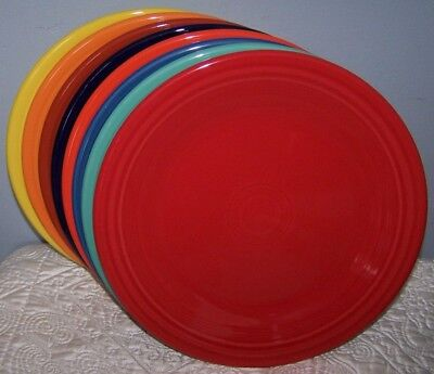 "NEW SET OF 8 FIESTAWARE MIXED COLOR 10.5"" DINNER PLATES FIESTA LOT"