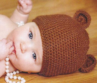 Crochet Baby Beanie Pattern (Crochet Pattern ~ BABY BEAR BEANIE, Hat ~)