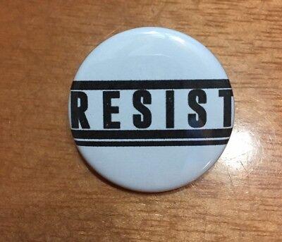 RESIST Anti-trump Pin-Back Button 1 1/2 inch SHIPS FREE