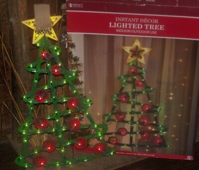 CHRISTMAS BIG OUTDOOR LIGHTED TREE STAR TOPPER SILHOUETTE SIGN WINDOW LIGHT 23