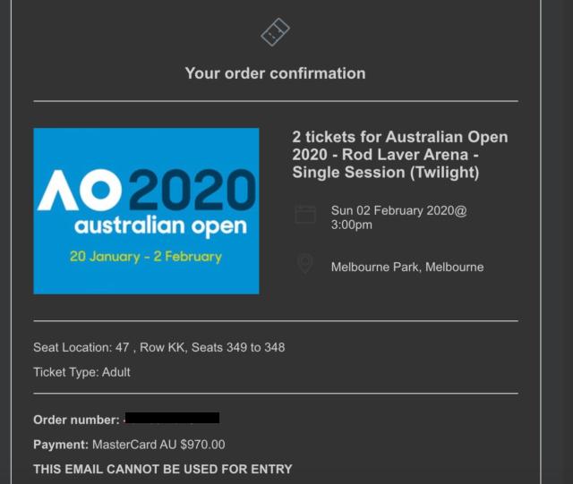 Tennis Tickets Sport Gumtree Australia Inner Sydney