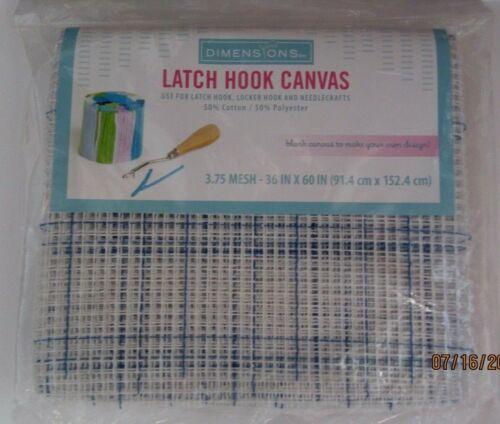 "LATCH HOOK CANVAS..3.75 MESH..36"" X 60"
