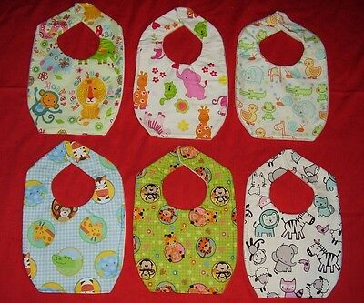 NEW cute BABY BIB Jungle Safari monkey zebra elephant gorilla lion frog duck L4