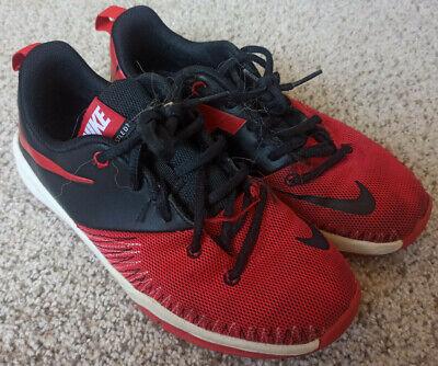 Nike Team Hustle D7 Size 5Y Black Red Shoes