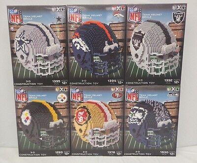 Forever Collectibles NFL BRxLZ Puzzle Piece 3-D Construction Toy Football Helmet](Toy Football Helmets)