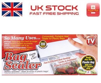 Convenient Portable Heat Sealer (Battery Operated) For Plastic Bags 7